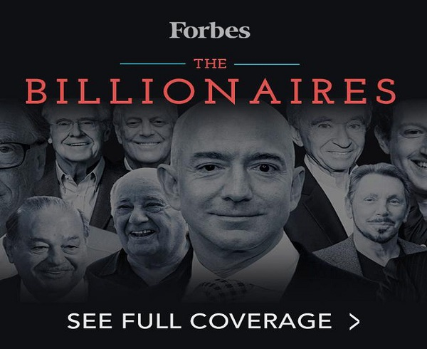 Forbes' STARS 35th Annual World's Billionaires List: Facts And Figures 2021